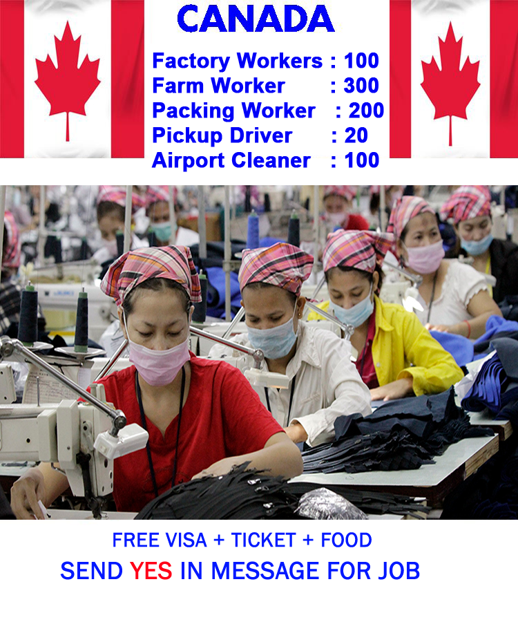 Job in Canada with Work Permit