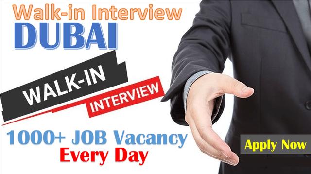 Walk In Interview Jobs in Dubai, UAE