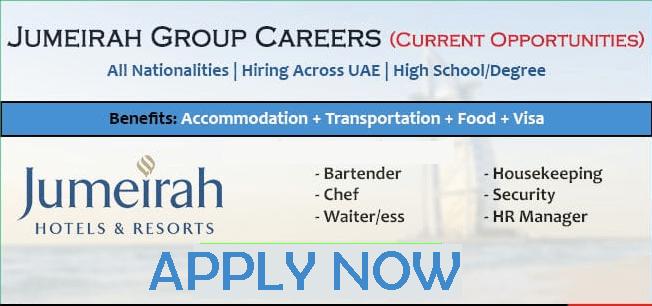 Jumeirah Careers in Jumeirah Group UAE